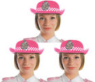 PACK OF PINK WPC POLICE WOMAN HAT FANCY DRESS BRITISH OFFICER COPPER HEN PARTY