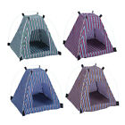Dog Tent Indoor Outdoor House Portable Folding Bed Pet Cat Striped Kennel Teep