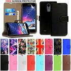 For LG K8 2017 M200N / K4 2017 M160 -Wallet Leather Case Flip Cover +Guard Film