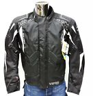 Viper Coretech Textile Waterproof CE Armoured Motorcycle Jacket Black White