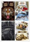 3D Animal Printed Effect Bedding Set Duvet Cover Pillowcase Sheet Queen Size image