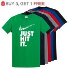 Nike Just Hit Funny Marijuana Weed Pot 420 Black T Shirt Just do it Festival Tee image