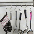 US 1-50Pcs Stainless Steel S Hooks Hangers Kitchen or Home Storage Hook GIFT