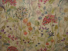 Voyage Hedgerow Linen Table Oil Cloth PVC Floral Designer Upholstery Fabric