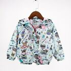 Baby Girls Jacket Coats Graffiti Style Hooded Girl Jackets Fashion Girl Clothing