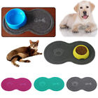 1*Cute Cat Bowl Mat Dog Pet Feeding Dish Tray Easy Wipe Clean Floor PVC Placemat