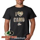 MOSSY OAK T-Shirt I Heart Camo Camouflage Hunting Men's Tee