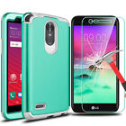 For LG Stylo 3/Stylus 3 Hybrid Shockproof Rugged Hard Case With Screen Protector