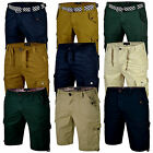 Mens Cargo Shorts Combat Chino Summer Cotton Half Pants Work Regular Casual New