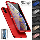 Case For Iphone 6 7 8 5s Se Xs Max Plus Cover 360 Luxury Thin Shockproof Hybrid