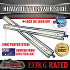 227kg Locking Drawer Slides 900 - 1600mm Heavy Duty Fridge runner full extension