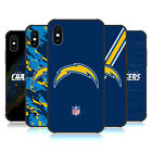 OFFICIAL NFL LOS ANGELES CHARGERS LOGO MATTE BLACK CASE FOR APPLE iPHONE PHONES