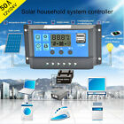 Solar Panel Regulator Charge Controller USB 40A/50A/60A 12V-24V With Dual USB