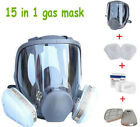 Внешний вид - Full Face Gas Mask F 3M 6800 Facepiece Respirator Painting Spraying 15 in 1 Suit