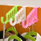 Home Over the Door Hook ABS Clothes Garment Hanger Drying Rack 5 Hole Organizer
