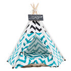 S M L Pet Tipi Teepee Tent House Durable Dog Cat Bed Kennel House Kitten Splice