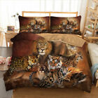 Animal Duvet Cover Set For Comforter Queen King Size Bedding Set Tiger/Lion image