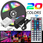 Full Kit 5M 10M 5050 RGB LED Strip Light Lights+24/44 Key IR Remote+12V Power .S