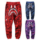 BAPE A Bathing Ape Shark Head Camouflage Sweatpants Men