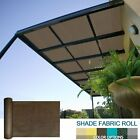 6' 8' FT Tall Brown Sun Shade Sail Fabric Roll Garden Yard Pergola Patio Cover