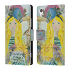OFFICIAL AMANDA HILBURN YOUNG LADY LEATHER BOOK WALLET CASE FOR SONY PHONES 1