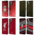 LIVERPOOL FC LFC 2018/19 CREST & LIVERBIRD PU LEATHER BOOK CASE FOR APPLE iPHONE