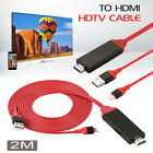 1080P 2M  Lightning to HDMI TV AV Adapter Cable For iPhone 6 6S 7 8 Plus X US