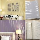 10M 3D Stripe Wave Wall Paper Roll Wallpaper Bedroom TV Background Decor GIFT