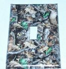 Brown Deer Camo Woods Image  LIGHT SWITCH OR OUTLET COVERS HANDMADE