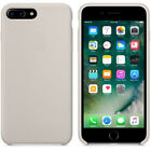 Original For Apple iPhone 6 6s 7 8 Plus X Silicone Leather Back OEM Cover Case