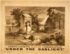 Photo Printed Old Poster: Theatre Flyer 1800s Oofty Goofts Under The Gaslight 01