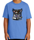 Big Rigs Eagle Flag Truck Kid's T-shirt Wild and Free Tee for Youth - 2052C