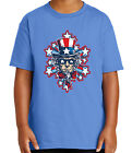 Uncle Sam's Explosion Kid's T-shirt USA Patriotic Hat Tee for Youth - 2098C