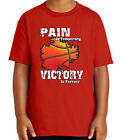Pain is Temporary Victory Forever Kid's T-shirt Basketball Tee for Youth - 2083C
