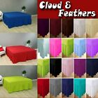 Plain Dyed Poly Cotton Extra Deep Fitted Frilled Valance Sheet in All Sizes image