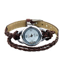 Floating Sparkles Leather Braided Wrap Watch image