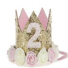 Princess Baby Girl 1st Birthday Flower Crown Party One&Two Year Hairband Tiara M