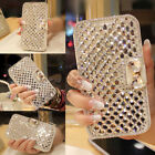 For iPhone Samsung Galaxy Sony Xperia HTC ONE Luxury Gold Diamond Wallet Case