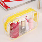 Clear Transparent Plastic PVC Travel Cosmetic Make Up Toiletry Bag Zip Pouch UK.
