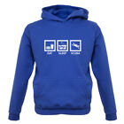 Eat Sleep Scuba Diving Kids / Childrens Hoodie - 7 Colours / Ages 1-13 Years