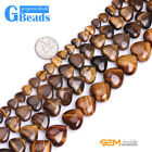 Natural Heart Love Tiger's Eye Gemstone Beads For Jewelry Making Free Shipping