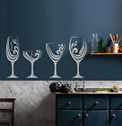 Vinyl Wall Decal Alcohol Wine Bar Shop Glasses Kitchen Decoration Sticker 2824ig