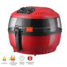 10QT Digital Electric Air Fryer Oil-Less Griller Calorie Reducer White/Red