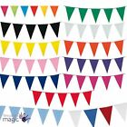 10m Plastic Bunting Fete Gala Party Banners 20 Flags Giant Indoor Outdoor Decor