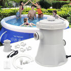 220V 15W Above Ground Swimming Pool Water Cleaner Filter Pump Electric - UK