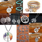 925 Silver Tree Of Life Necklace Pendant Earrings Set Bracelet Charms Jewellery