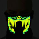 LED Mask Rave Luminous Flashing Half Face Light Up Voice-activated Music Party
