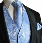 Paisley Men&#039;s Tuxedo Suit Vest with Necktie and Pocket Square <br/> 30+ Colors in Sizes XS - 6XL - US Seller