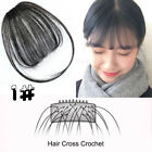 Invisible Thin Air Bangs Fringe Clip In Remy Human Hair Piece Extensions US Y087