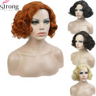 1920s Wig Copper/Blond Flapper Short Curly Hair Women's Synthetic Capless Wigs